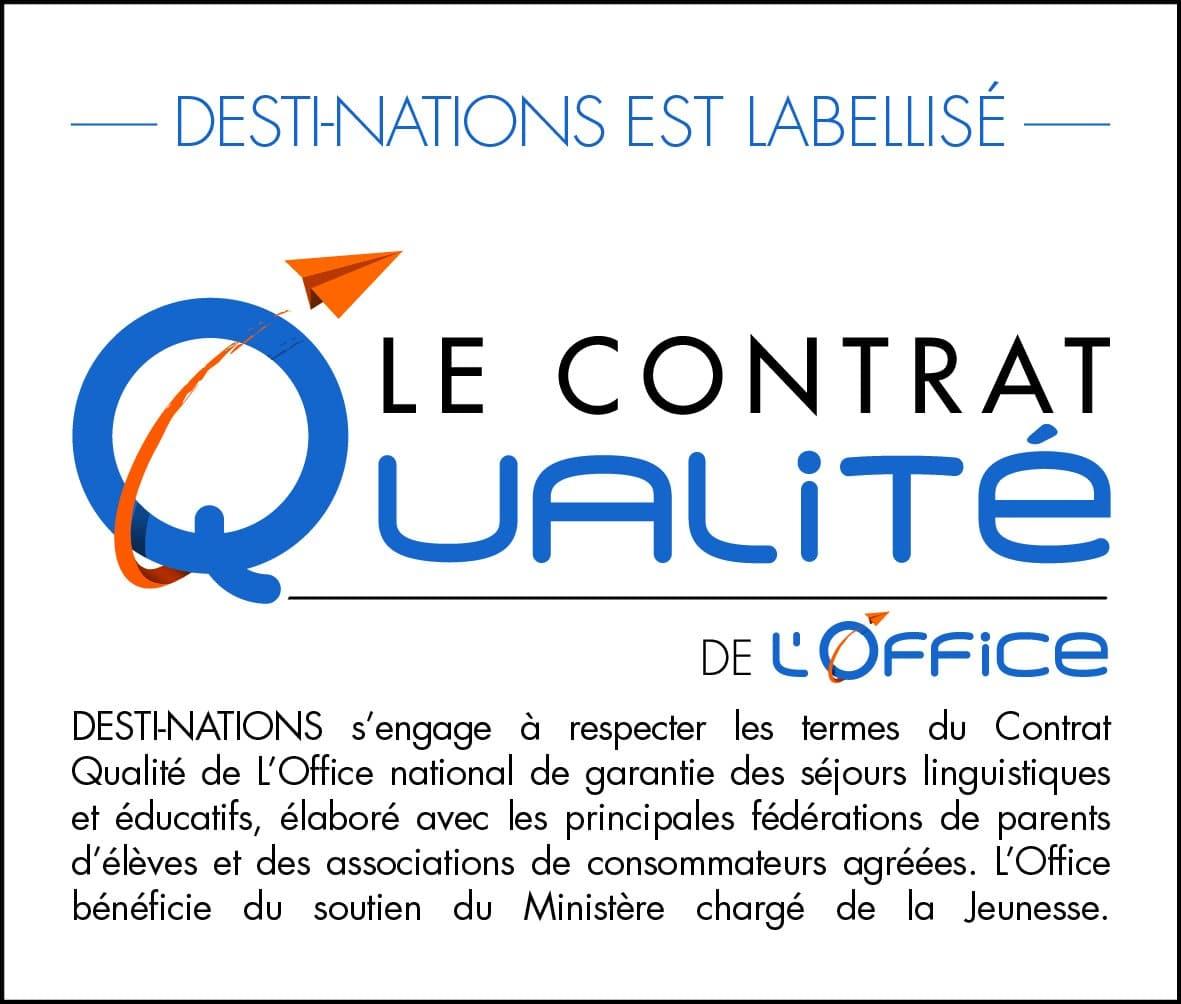 Desti-Nations est labellisé par le contrat qualité de L'Office