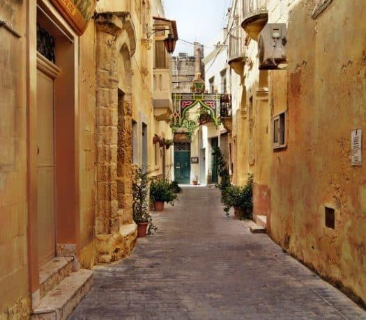 Rue à la Valette à Malte