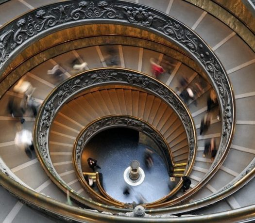 Escaliers de la Chapelle Sixtine, au Vatican