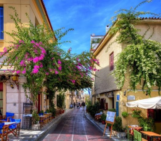 Le quartier de Plaka à Athènes