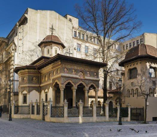 Le Monastère Stavropoleos dans le vieux-centre de Bucarest