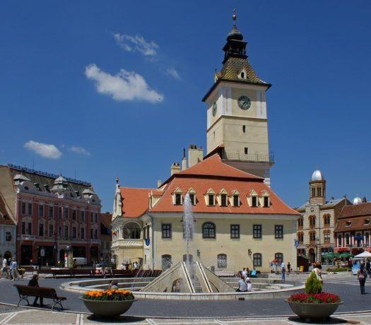 Le Centre-ville de Brasov, en Roumanie