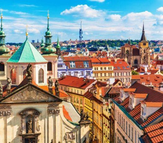 La ville de Prague - clochers