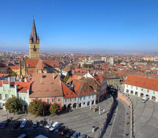 La ville de Sibiu, en Roumanie