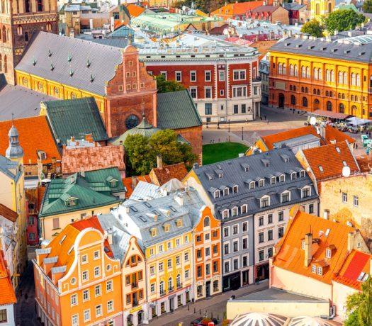 Vue de Riga en Léttonie Pays Baltes