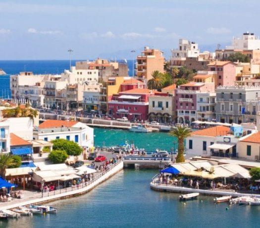 Agios Nikolaos ville côtière en Crète