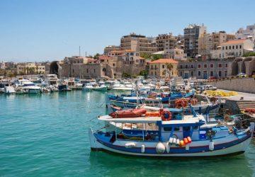 L'île de Crète depuis Héraklion