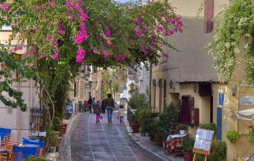Le quartier Pláka à Athènes