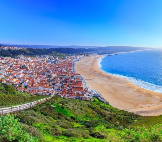 Vue panoramique de Nazare Portugal