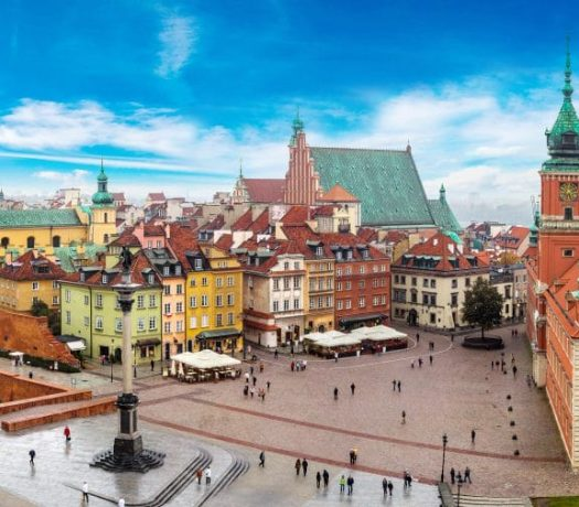 La vieille ville de Varsovie
