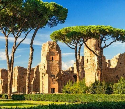 Ruines des bains romains de Caracalla - Rome
