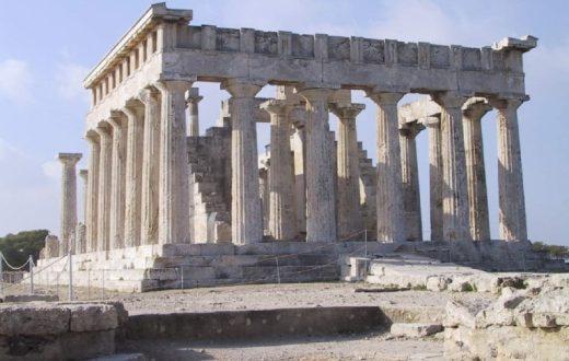 Le temple d'Aphaia à Egine