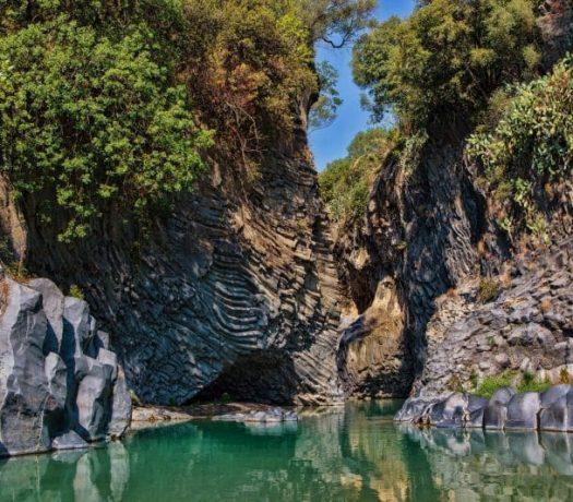 Les gorges de l'Alcantara, en Sicile