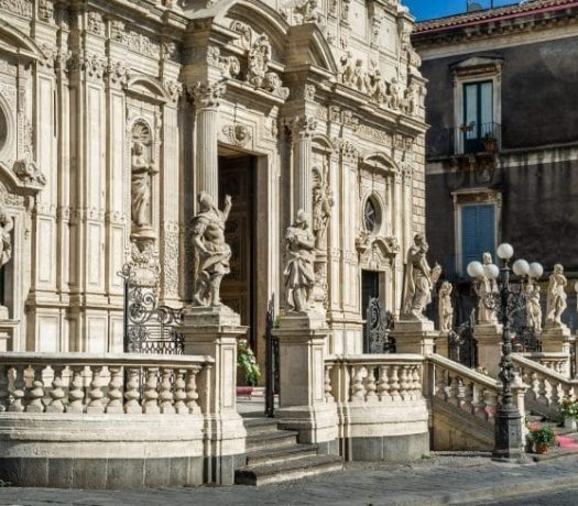 La ville d'Acireale, en Sicile