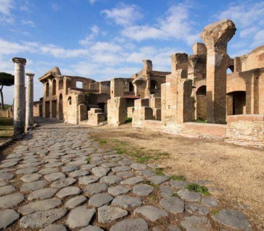 Les fouilles d'Ostie, proche de Rome