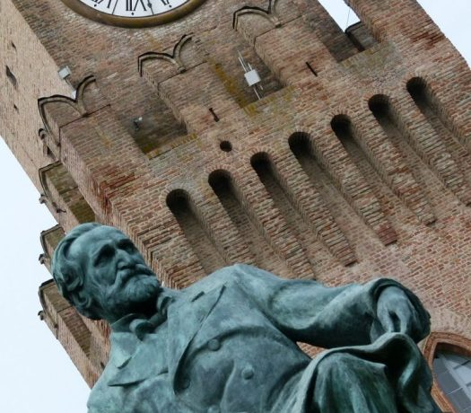 La statue de Giuseppe Verdi à Busseto