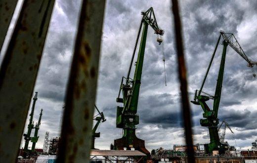 Le port industriel de Gdansk