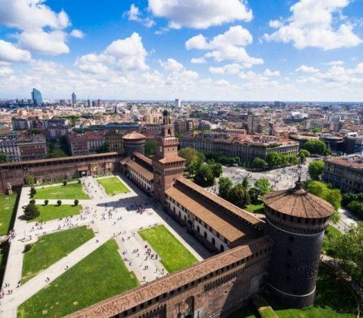 Le château des Sforza à Milan