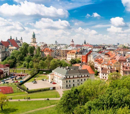 La ville de Lublin en Pologne