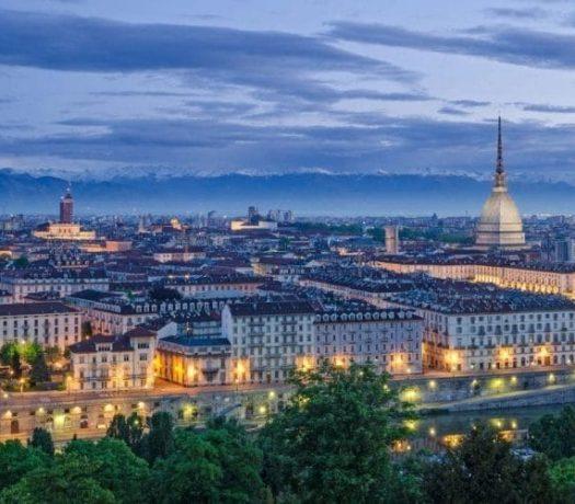 La ville de Turin, dans la région du Piémont