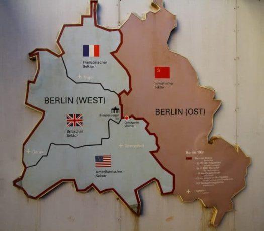 La division de la ville de Berlin à l'époque de la Guerre froide