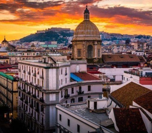 La ville de Naples, en Campanie