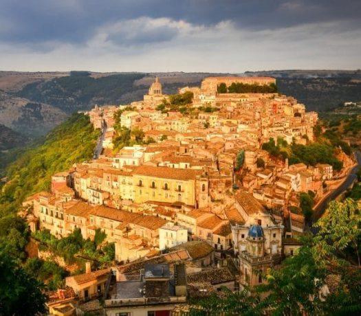 La ville de Raguse, en Sicile