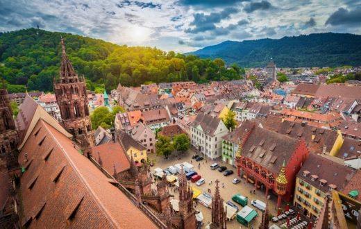 La vieille ville de Fribourg-en-Brisgau