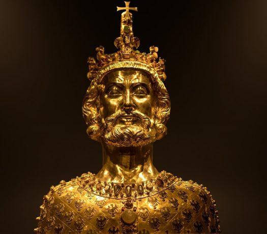 Buste de Charlemage au Trésor de la Cathédrale d'Aix-la-Chapelle