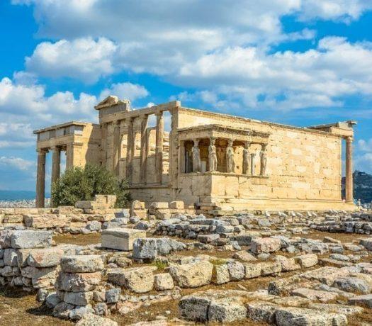 L'Érechthéion sur l'Acropole à Athènes