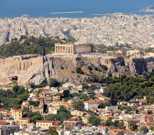 Athènes - vue panoramique sur l'Acropole