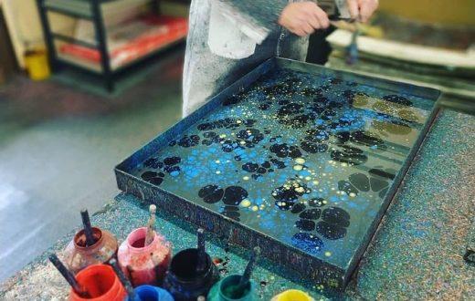 Atelier papier marbré Florence