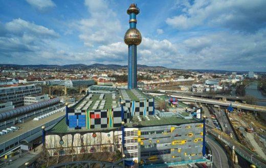 L'usine d'incinération des déchets de Spittelau